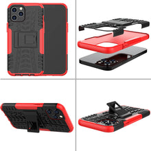 Load image into Gallery viewer, Apple iPhone Anti-slip Texture Cases Rugged Armor with Bracket Protective Cover for iPhone 12 11 Pro Max X XS Max XR 8 7 6S 6 Plus SE 2020