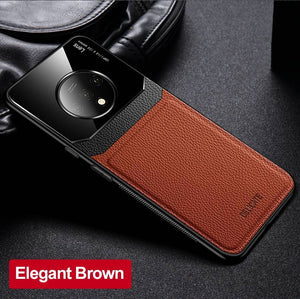 OnePlus Series Delicate Leather Glass Case Cover 6 6T 7 Pro 7T Pro 8 Pro Nord - yhsmall