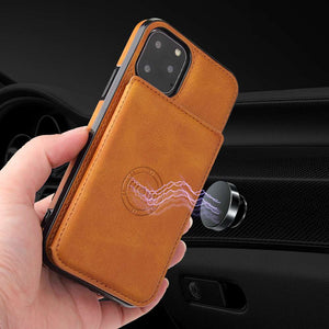 iPhone 12 Mini Wallet Magnetic Cases With Card Slot for Apple iPhone 12 11 Pro Max X XS Max XR 8 7 6S 6 Plus SE 2020 - yhsmall