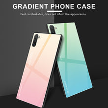 Load image into Gallery viewer, Samsung Galaxy Note 10 Plus Gradient Tempered Glass Case Cover - yhsmall
