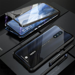 Oppo Reno Magnetic Double Side Tempered Glass Bumper Case Cover - yhsmall