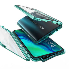 Load image into Gallery viewer, Oppo Reno Magnetic Double Side Tempered Glass Bumper Case Cover - yhsmall