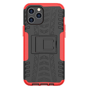 Apple iPhone Anti-slip Texture Cases Rugged Armor with Bracket Protective Cover for iPhone 12 11 Pro Max X XS Max XR 8 7 6S 6 Plus SE 2020 - yhsmall