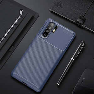 Huawei P30 P20 Pro Mate 20 Pro Nonskid Twill Pattern Soft TPU Shockproof Case Cover - yhsmall