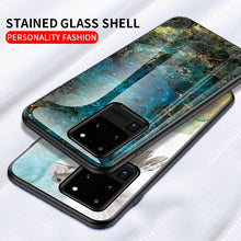 Load image into Gallery viewer, Marble Pattern Samsung Cases Anti-scratch Tempered Glass Protective Cover for Galaxy S9 S10 S10e S20 Plus S20Ultra S20FE Note 8 9 10 20 Ultra - yhsmall