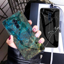 Load image into Gallery viewer, Oppo Marble Pattern Tempered Glass Hard Case Cover - yhsmall