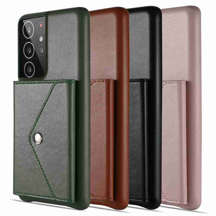 Samsung Cases Luxury Shepherd Pattern With Card Holder Protective Cover for Galaxy S8 S9 S10 S20 S21 Ultra Note  8 9 10 20 Ultra A32 A51 A52 A71 A72