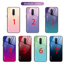 Load image into Gallery viewer, Gradient OnePlus Cases Anti-scratch Tempered Glass Protective Cover for OnePlus 6 6T 7 Pro 7T Pro 8 Pro Nord N10 100