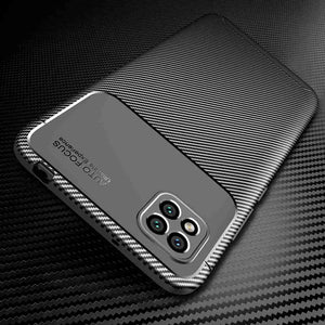 Xiaomi Phone Case Carbon Fiber Anti-fingerprint Protective Cover Xiaomi 6X 8 9 10 Black Shark Poco Series