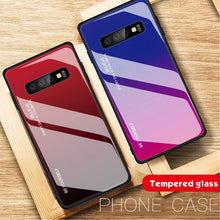 Load image into Gallery viewer, Gradient Tempered Glass Case Cover for Samsung Galaxy S10 S10Plus S10e - yhsmall