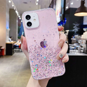 Silver Foil Apple iPhone Cases Solid Colors Soft TPU Protective Cover for iPhone 5 5S SE 2020 6 6S 7 8 Plus X XS Max XR 11 12 Pro Max