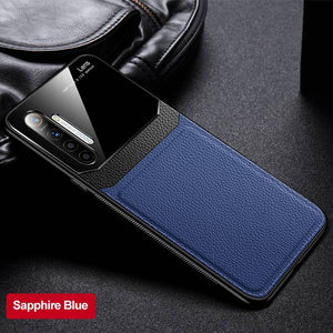 Oppo Realme Reno Cases Delicate Leather Glass Case Cover - yhsmall