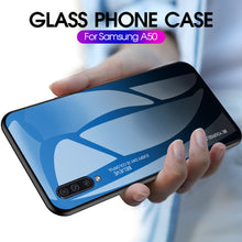 Load image into Gallery viewer, Samsung Galaxy A M Series Gradient Glass Case Cover - yhsmall