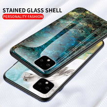 Load image into Gallery viewer, Google Pixel 4 XL Marble Pattern Tempered Glass Hard Case Cover - yhsmall