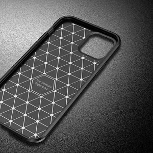 iPhone 12 Mini Cases Carbon Fiber Anti-fingerprint Anti-collision Protective Cover for Apple 6 7 8 Plus SE 2020 X XS MAX XR 11 12 Pro Max - yhsmall