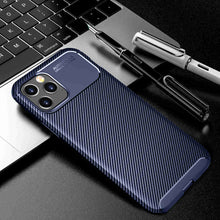 Load image into Gallery viewer, iPhone 12 Mini Cases Carbon Fiber Anti-fingerprint Anti-collision Protective Cover for Apple 6 7 8 Plus SE 2020 X XS MAX XR 11 12 Pro Max - yhsmall