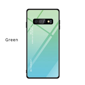 Gradient Tempered Glass Case Cover for Samsung Galaxy S10 S10Plus S10e - yhsmall