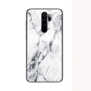 Redmi Note 8/8Pro Marble Pattern Tempered Glass Case Cover - yhsmall