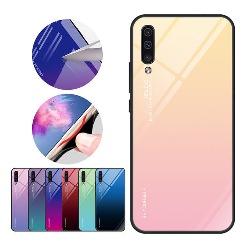 Samsung Galaxy A M Series Gradient Glass Case Cover - yhsmall