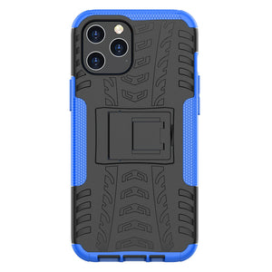Apple iPhone Anti-slip Texture Cases Rugged Armor with Bracket Protective Cover for iPhone 12 11 Pro Max X XS Max XR 8 7 6S 6 Plus SE 2020
