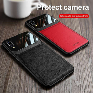 Vivo Series Delicate Leather Glass Case Cover - yhsmall