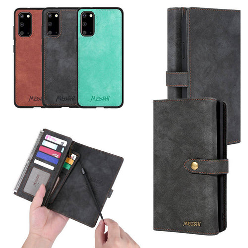 Samsung Leather Wallet Cases Multi-function Magnetic Cover for Galaxy S7 S8 S9 S10 S20 Note 8 9 10 20 - yhsmall