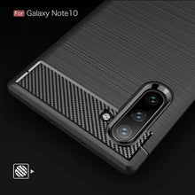 Load image into Gallery viewer, Samsung Galaxy Note 10/Note10Plus Carbon Fiber Brush Pattern Soft Back Case Cover - yhsmall