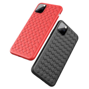 2019 New iPhone Cases Woven Pattern Cooling Soft TPU Case Cover - yhsmall