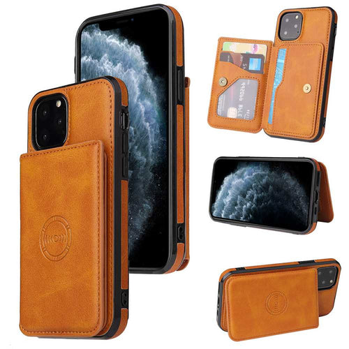 Apple Wallet Magnetic Cases With Card Slot for iPhone 12 11 Pro Max X XS Max XR 8 7 6S 6 Plus SE 2020 - yhsmall