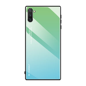 Samsung Galaxy Note 10 Plus Gradient Tempered Glass Case Cover - yhsmall