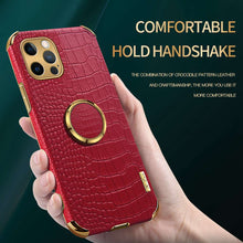 Load image into Gallery viewer, Apple iPhone Crocodile Pattern PU Leather With Holder Protective Cover for iPhone 6 6S 7 8 Plus SE 2020 X XS Max XR 11 12 Pro Max