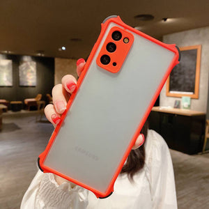 Samsung Cases Frosted Skin Feeling 4 Corner Shockproof Protective Cover for Galaxy S10 S20 S21 Ultra Note 20 Ultra S20FE