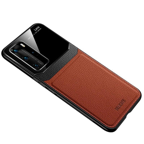 Huawei Series Delicate Leather Glass Case Cover - yhsmall