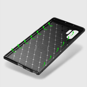 for Samsung Galaxy Note 10/Note10Plus Cases Soft TPU Carbon Fiber Pattern Cooling Cover - yhsmall