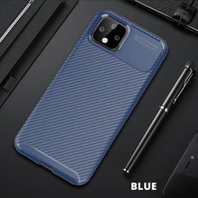 Load image into Gallery viewer, Google Pixel Phone Cases Soft TPU Carbon Fiber Pattern Cooling Cover for Pixel 3A XL 4 XL 4A 5G 5 - yhsmall