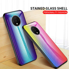 Load image into Gallery viewer, Carbon Fiber Pattern Tempered Glass Case Cover for OnePlus 5 6 7 T Pro - yhsmall