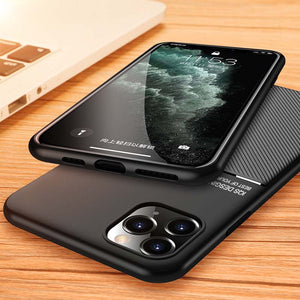 Apple iPhone Cases Matte Texture Built-In Magnetic Car Holder Protective Cover for iPhone 5 5S SE 2020 6 6S 7 8 Plus X XS Max XR 11 12 Pro Max - yhsmall