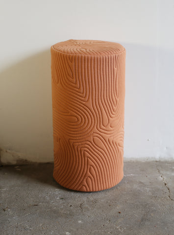 Cylinder Fingerprint Pillow (Terracotta)
