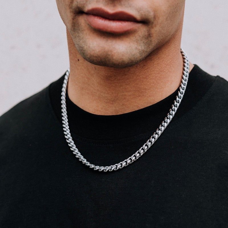 Heavyweight Cuban Chain - Silver 8mm chain Midnight City Jewellery