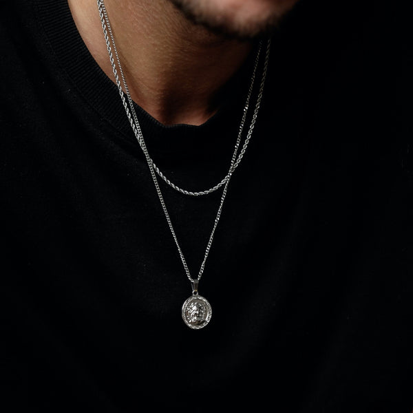 Medusa Pendant Necklace - Silver necklace Midnight City Jewellery