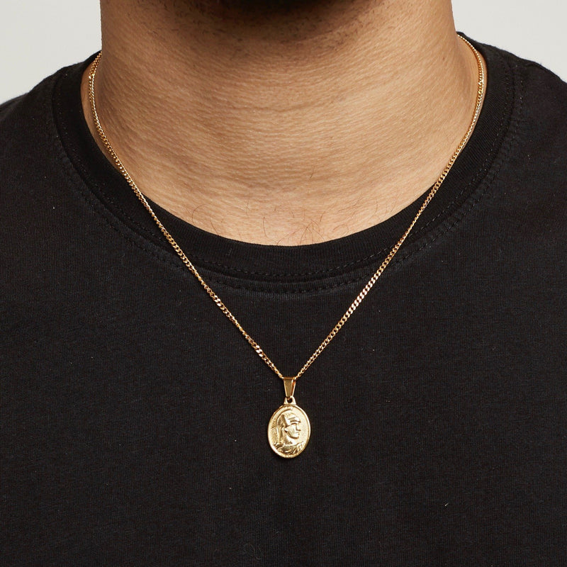 Centurion Pendant Necklace - Gold necklace Midnight City Jewellery