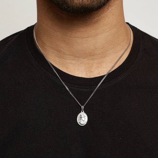 Centurion Pendant Necklace - Silver
