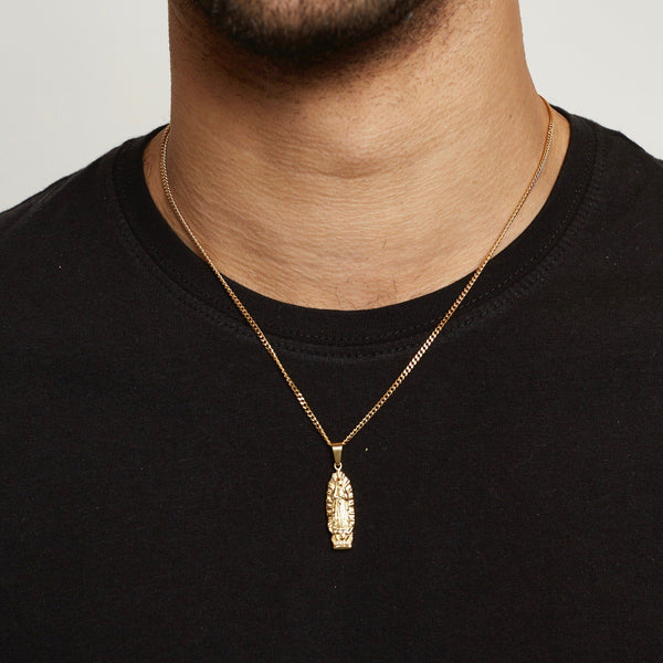 Mother Mary Pendant Necklace - Gold