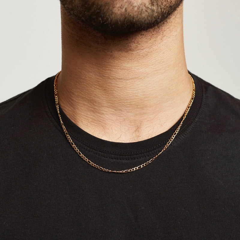 Chain - Gold chain Midnight City Jewellery 45cm Figaro 3mm