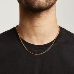 Chain - Gold chain Midnight City Jewellery 45cm Curb 3mm