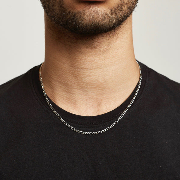 Figaro Chain - Silver chain Midnight City Jewellery