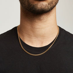 Cuban Chain Sterling Silver - Gold chain Midnight City Jewellery