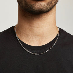 Cuban Chain Sterling Silver - Silver chain Midnight City Jewellery