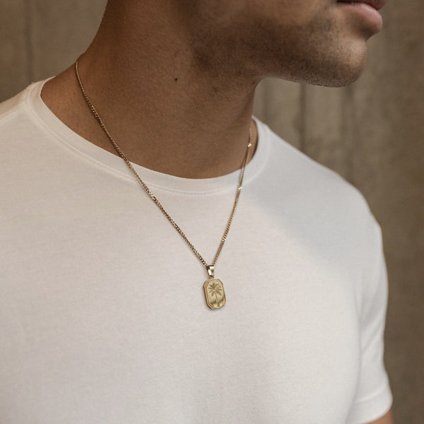 Palms Pendant Necklace - Gold necklace Midnight City Jewellery