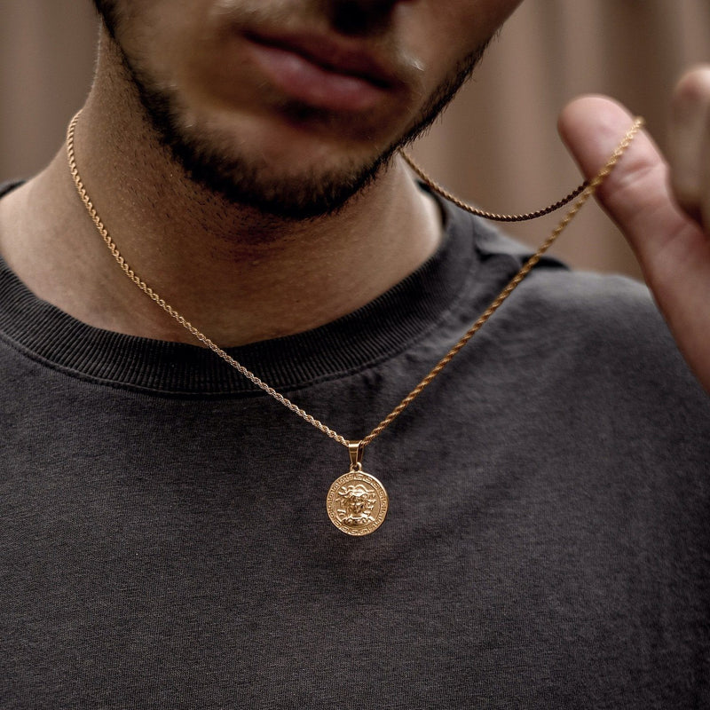 Medusa Pendant Necklace - Gold necklace Midnight City Jewellery